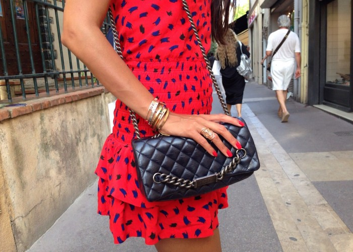 chanel-bag-maje-dress