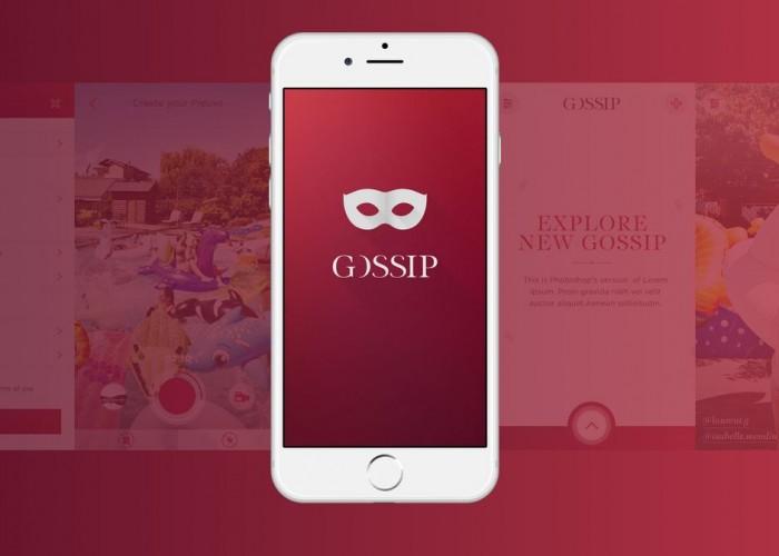 Capture d'écran de la page de l'appli Gossip.