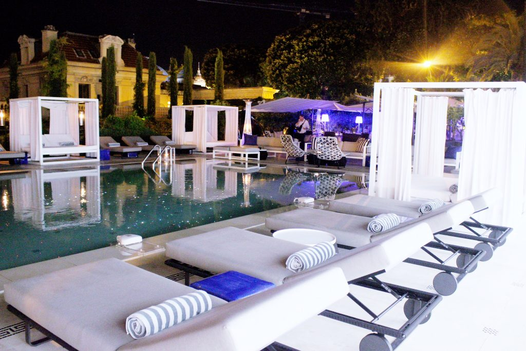 champagne azur piscine